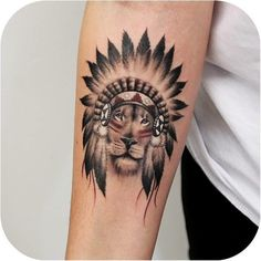 Lion Indian chief