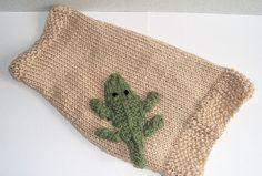 Hand Knit Dog Sweater with Alligator Applique by SimplyMadeByLiz, $30.00
