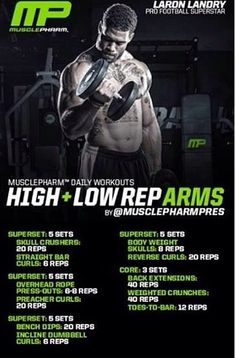 High and low rep arms Weight Training Workouts, Gym Workout Tips, Workout Days, Easy Workouts, Musclepharm Workouts, Bicep And Tricep Workout, Chest Workouts, Shoulder Workout, Bodybuilding Workouts