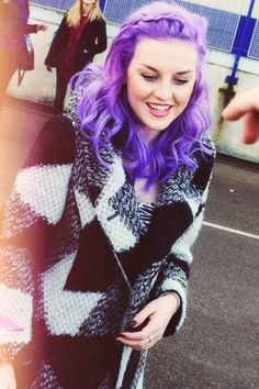Perrie Edwards, purple hair.