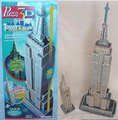 wrebbit 3d puzzles Empire State Building & Metlife Tower w/ 569 pcs