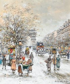 ANTOINE BLANCHARD (French, 1910-1988). Les Champs Elysees.