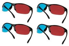 Gator Crunch Pro Gen X 3D Glasses Family Pack (4 Pairs) by Gator Crunch. $12.69. These High Quality Gen-X Style glasses can be used to view 3D movies that use the red/cyan anaglyph process or any other 3D media including Youtube 3D, Print Media or 3D Games using the stereoscopic Nvidia drivers. Our 3D Glasses can be used in viewing recently released 3D Movies on DVD and Blue Ray such as Monster House 3D, G-Force 3D, Bolt 3D, Open Season 3D, Yogi Bear 3D, Ice Age 3D, Cats...