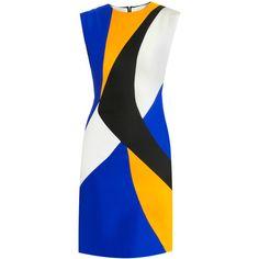 Roksanda Ilincic Auster lapis fitted dress ($1,393) ❤ liked on Polyvore