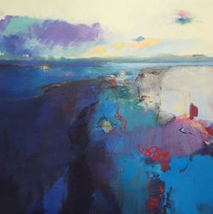 ARTFINDER: Red River Estuary by Andrew Kinmont (ARBSA) - The bay welcomes the approaching evening with a shimmering display of jewel-like colours.