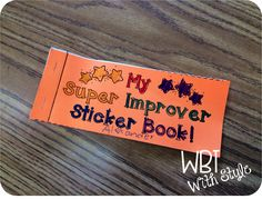 Super Improver Wall sticker book for kids to collect stickers for each level - FREE