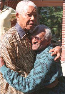 Nelson Mandela and Desmond Tutu