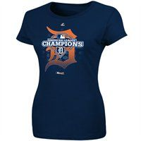 The Detroit Tigers are headed to the World Series! Check out this Detroit Tigers 2012 MLB American League Champions Ladies Clubhouse Locker Room T-Shirt!