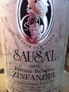 2008+Sausal+Winery+Zinfandel+Private+Reserve