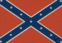 http://www.cuddleup-creations.net/Confederate-Flag-Crochet-Pattern_p_458.html