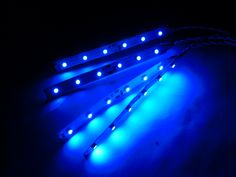 Blue Led Strips for many locations, just peel and stick. Needs 8.4V and up.