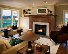 I love the carpet in the center.  This is what I want to do with the master bedroom sitting area