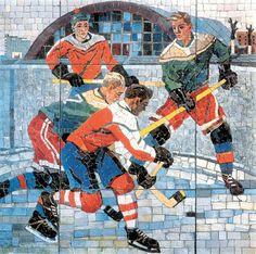 Aleksandr Deyneka - Hockey players 1958
