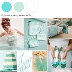 Tiffany Blue, Aqua + White ☛ http://ow.ly/8jgZ8