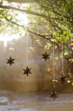 ceremony details, hanging star lanterns, mexico, the dazzling details, klk photography
