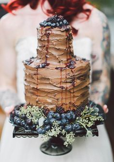 Tall Chocolate Wedding Cake