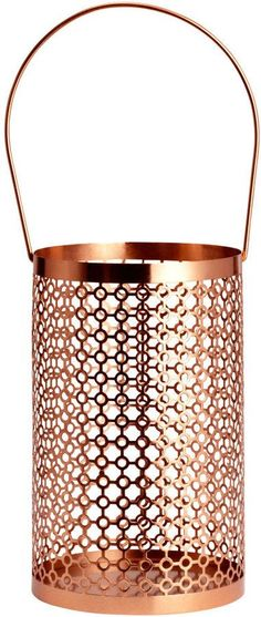 H&M - Metal Candle Lantern - Copper-colored