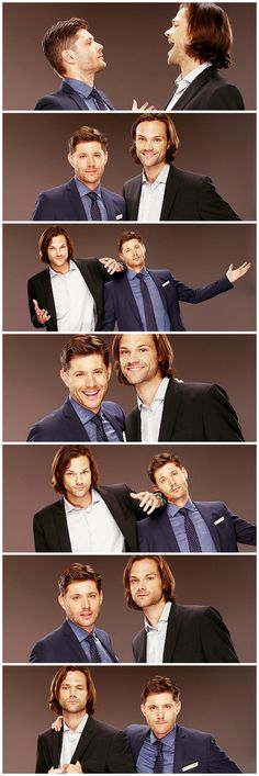 Jensen Ackles & Jared Padalecki, TCA 2014 TVGuide Portraits - from professionals to goofballs in two seconds flat!