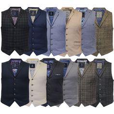 Mens Waistcoat Wool Mix Cavani Formal Vest Herringbone Tweed Check Party Smart in Clothes, Shoes & Accessories, Men's Clothing, Waistcoats | eBay!