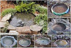 Eskimiş Lastiklerden Bahçe Süs Havuzu Yapma