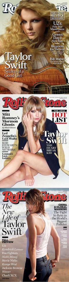 Evolution of Taylor's Rolling Stone cover