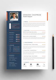 Eaward Chapman Resume Template - Resume Template Ideas of Resume Template - Ewarad Chapman creative resume templateFile Paper Page/Template Resume/CVOne Page/Template Reference& One Page/Template Visual Resume, Basic Resume, Resume Tips, Resume Examples, Simple Resume, Cv Tips, Resume Ideas, One Page Resume, Modern Resume Template