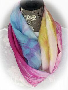 Hand Dyed Silk Infinity