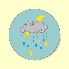 Stormy Weather Sticker from the Illustrations collection.