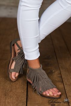 Hawk 2 Fringe Sandal is gladiator-inspired style! This sandal is constructed of faux-suede with fringe detail at vamp and two ankle straps.