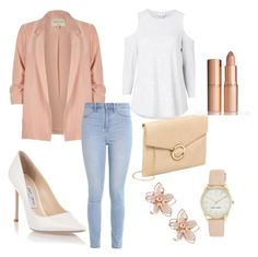 """""""Bez naslova #4"""" by armina-244 ❤ liked on Polyvore featuring River Island, Hollister Co., Witchery, Jimmy Choo, NAKAMOL and Nine West"""