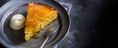 Somewhere between a cake and a pud, this slump is a dense, rich almond ...
