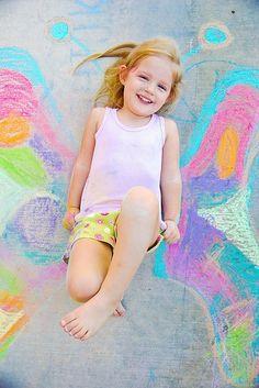 butterfly chalk photo idea