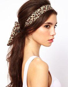 leopard scarf hair band