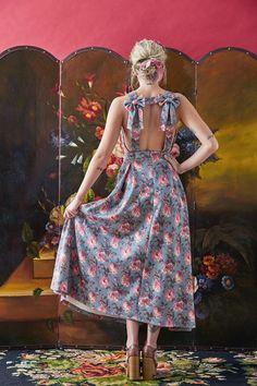 """Alicia Galant"" midi floral dress// Karavan Clothing AW2015-16 #karavanclothing #karavan"