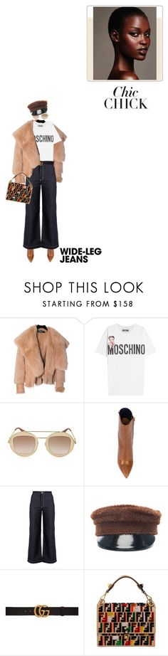 """Chic Chick!"" by prettynposh2 ❤ liked on Polyvore featuring Balmain, Moschino, Gucci, Yves Saint Laurent, Bliss and Mischief, Ruslan Baginskiy and Fendi"