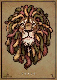 P E A C E (…like a lion) | France | International Reggae Poster Contest