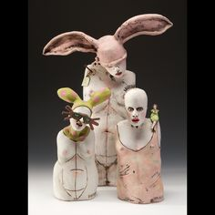 """""""In a body of work there is a common thread of expression and exploration that binds it together. My sculpture addresses our pursuit of T. Ceramic Figures, Clay Figures, Ceramic Artists, Art Corner, Art Sculpture, Foto Art, Paperclay, Clay Art, Figurative Art"""