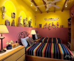 serapes on beds in San Miguel de Allende