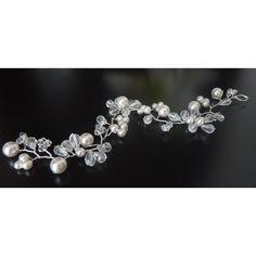 edle design Haarranke mit Perlen - Haarschmuck neu zur Hochzeit