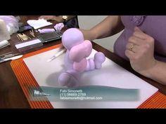 Hippo part 2 Fondant Figures, Clay Figures, Cold Porcelain Tutorial, F Video, Fondant Animals, Animal Cakes, Fondant Decorations, Pasta Flexible, Youtube