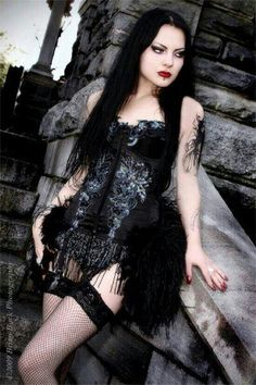 #gothic #goth clothes #emo #scene #scene style #horror #girl clothes #macabre #band shirts #suicide girls #piercings #tattoos