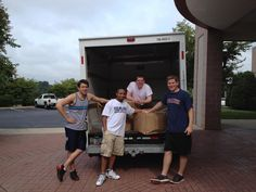 NJDSC staff unloading the van after getting in to Charlotte