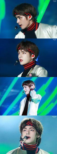 뷔 • 180125 'DNA' Performance at 27th Seoul Music Awards ❤ #BTS #방탄소년단 #V