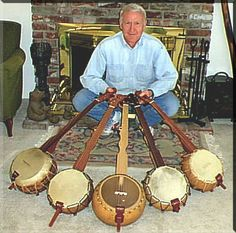 Bob Thornburg and his homemade banjos. Old Musical Instruments, Homemade Instruments, Hand Painted Gourds, Outdoor Crafts, Types Of Craft, Custom Guitars, Gourd Art, Nature Crafts, Banjo
