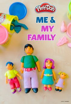 Make playtime a family activity using Play-Doh compound! Have your kids sculpt a scene of their family members while describing something they like about each person as they go along. And if possible, have the whole family do it together! Play-Doh  creations are always a great addition to time together like game night.