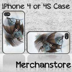 Animal Bat Custom iPhone 4 or 4S Case Cover