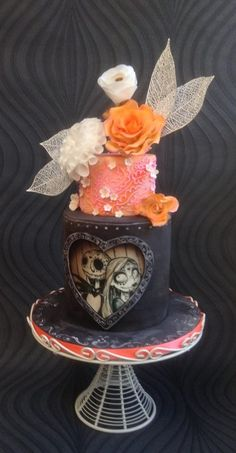Nightmare Before Christmas / Day of the Dead Cake made by Splendor - Cakes and more
