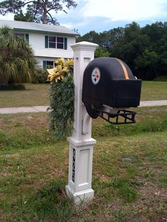One of the first things that people see when they visit you at your house is mailbox. Usually the mailboxes are homogeneous and often they can be overlooked. Not the mailboxes which are collected i… Steelers Gear, Here We Go Steelers, Pittsburgh Steelers Football, Pittsburgh Sports, Football Helmets, Steelers Fans, Steelers Stuff, Football Team, Funny Mailboxes