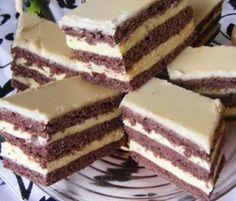 Érdekel a receptje? Hungarian Desserts, Hungarian Cake, Romanian Desserts, Hungarian Recipes, Cookie Recipes, Dessert Recipes, Powder Recipe, Cake Bars, Sweets Cake