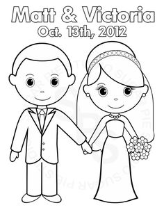 Personalized Wedding Colouring Books For Kids